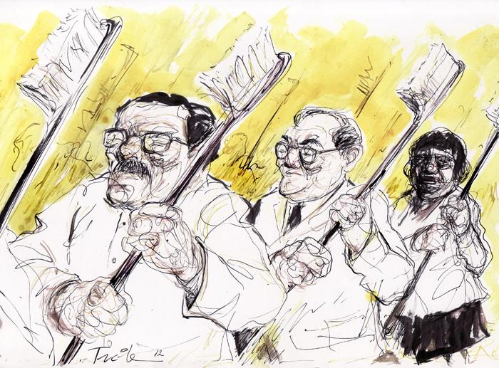 Desfile de odontólogos