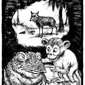 El monito aullador y su amigo Cururú