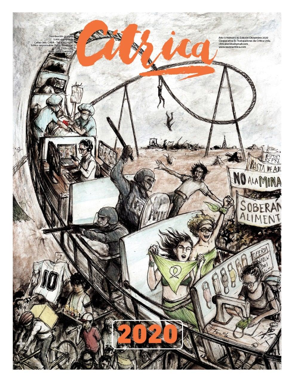 Ilustración de tapa Revista Cítrica, diciembre 2020.