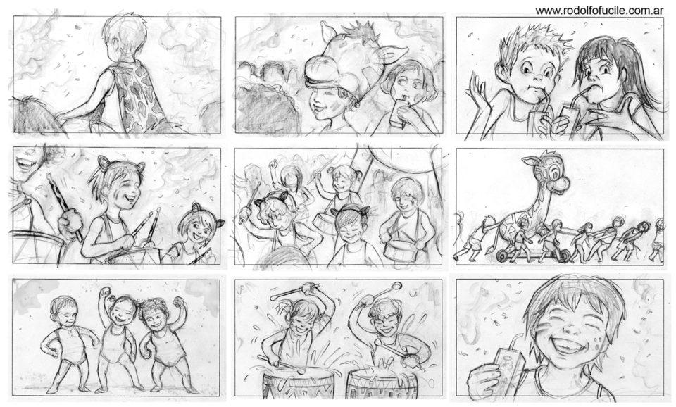 Cuadros de Storyboard Sancor Bebé
