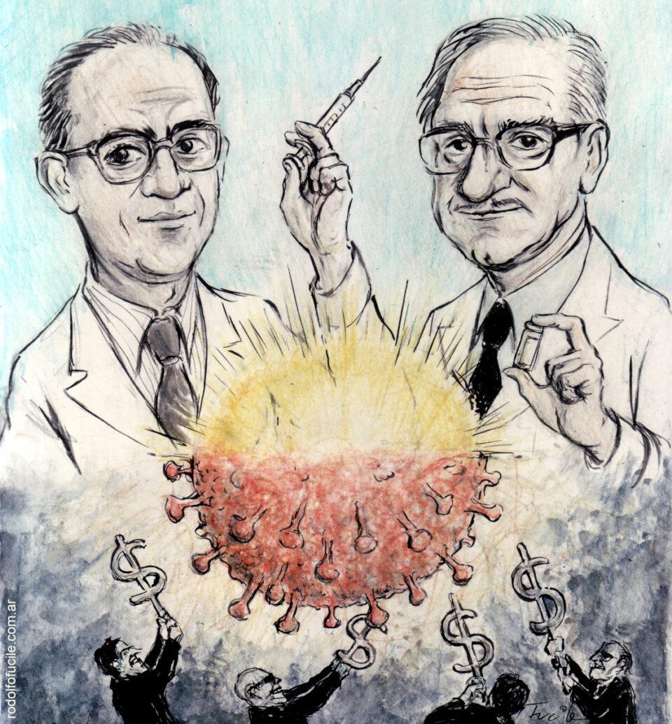 Jonas Salk y Albert Sabin