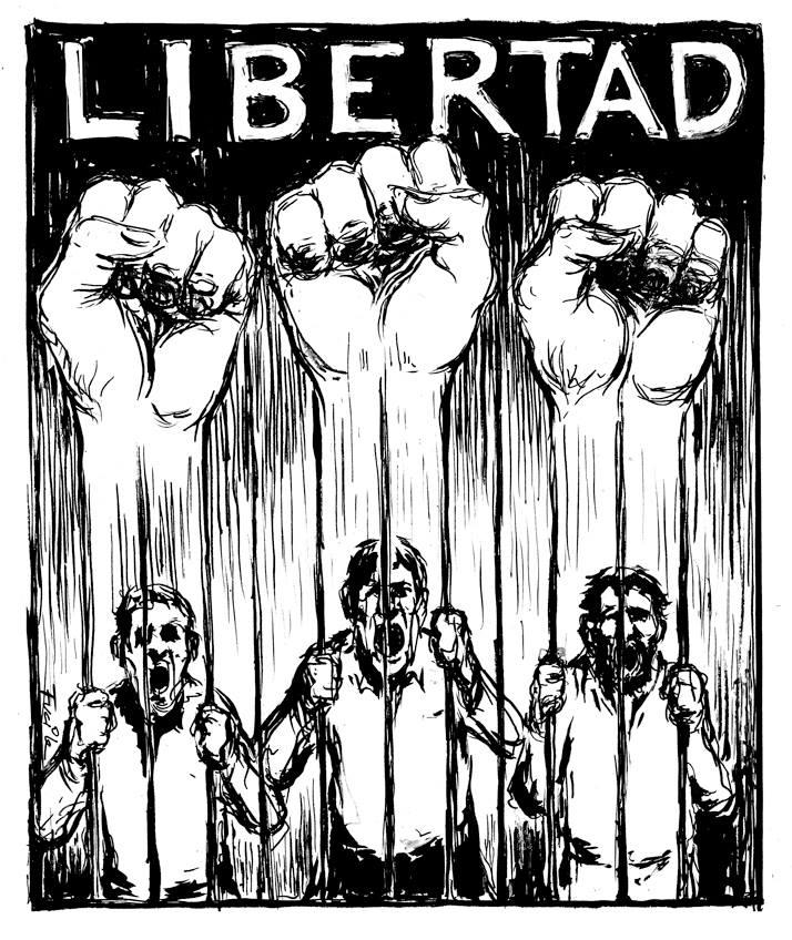 ¡Libertad a los presos por luchar!